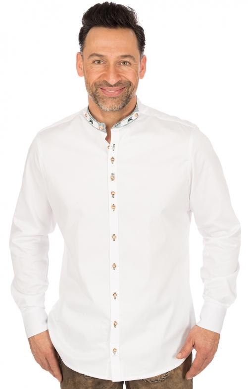 Klederdrachthemd Slim Fit wit