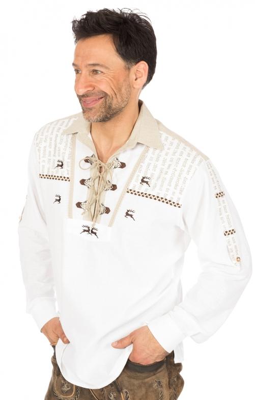 Klederdrachthemd wit